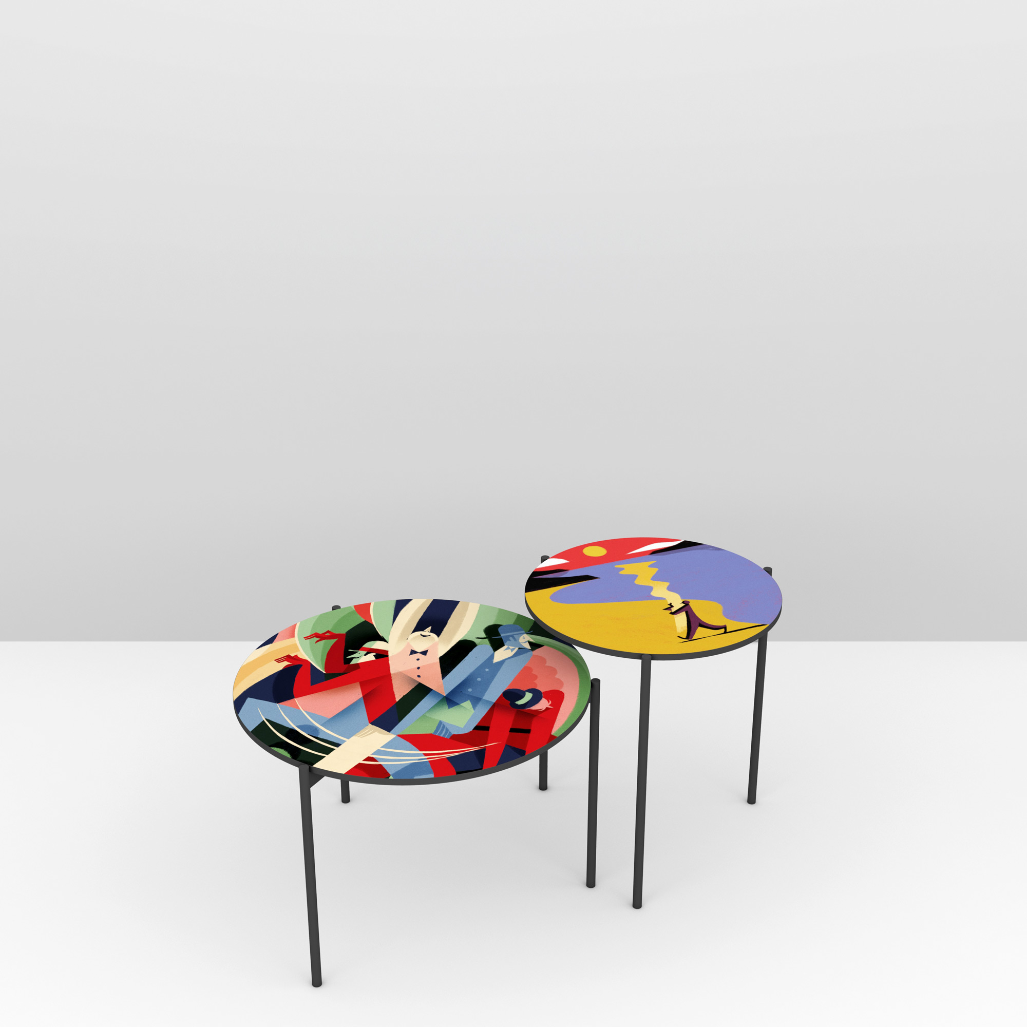 Pictoom Furniture Art Marogna Graphic Illustrator Furnishings Riccardo Guasco