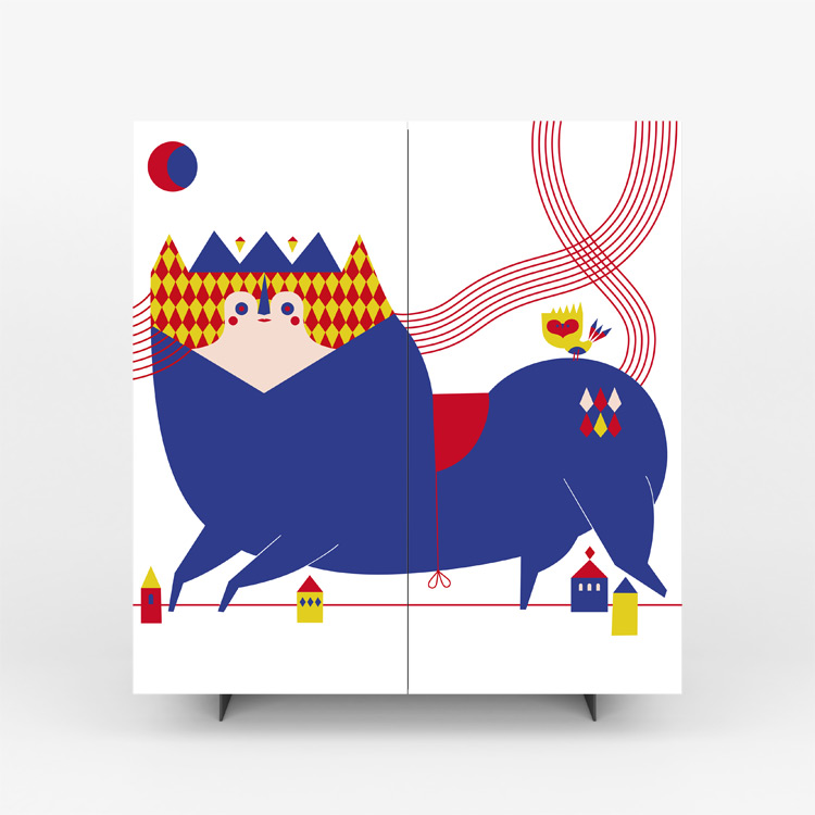 Pictoom Furniture Art Marogna Graphic Illustrator Furnishings Camilla Falsini