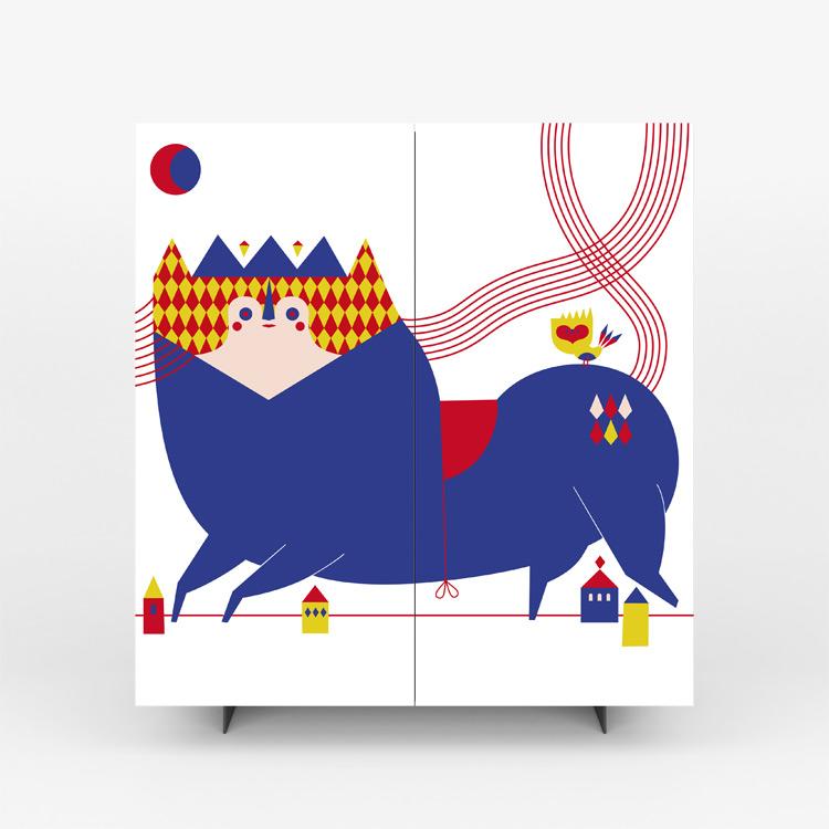 Pictoom Mobili Arte Marogna Arredamenti Illustratori grafica Camilla Falsini