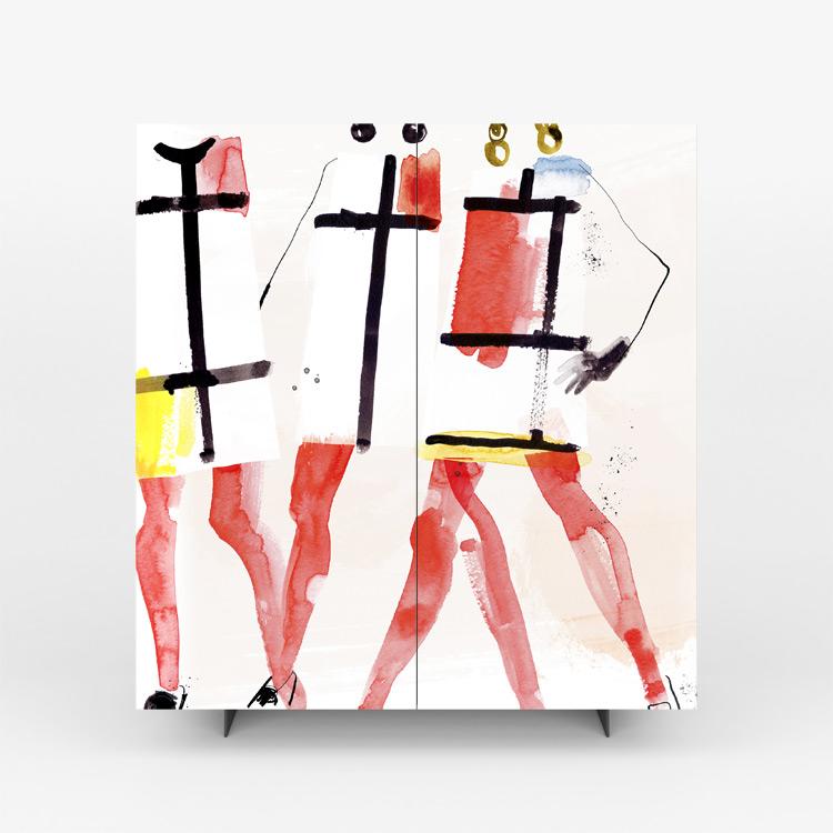 Pictoom Mobili Arte Marogna Arredamenti Illustratori grafica Cinzia Zenocchini