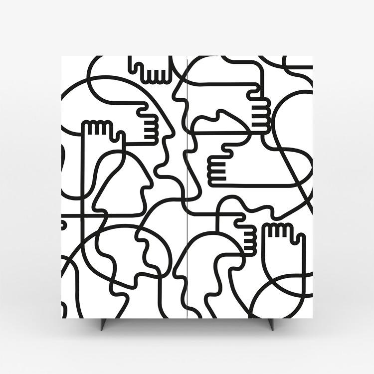 Pictoom Mobili Arte Marogna Arredamenti Illustratori grafica Jonathan Calugi