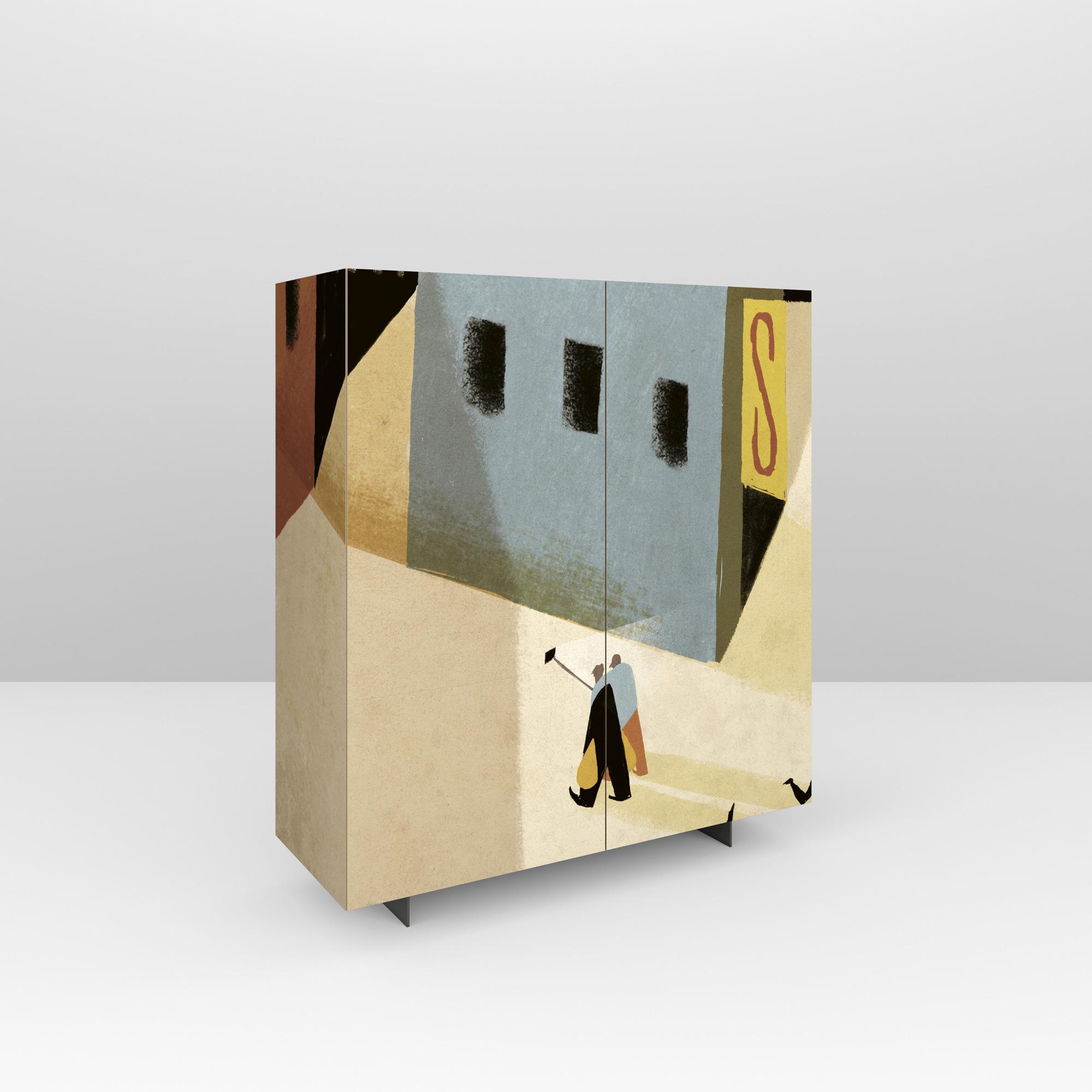 Pictoom Mobili Arte Marogna Arredamenti Illustratori grafica Riccardo Guasco